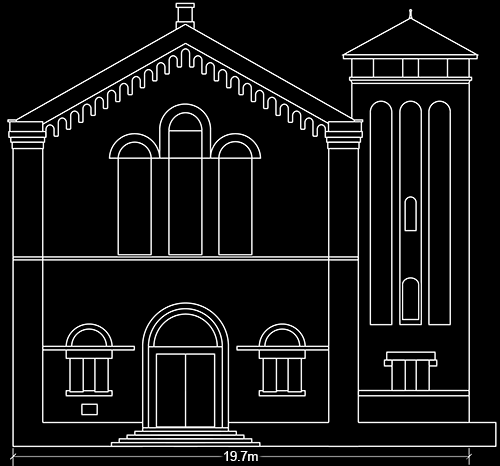 Front Elevation Texture : Index of building modeling cad church