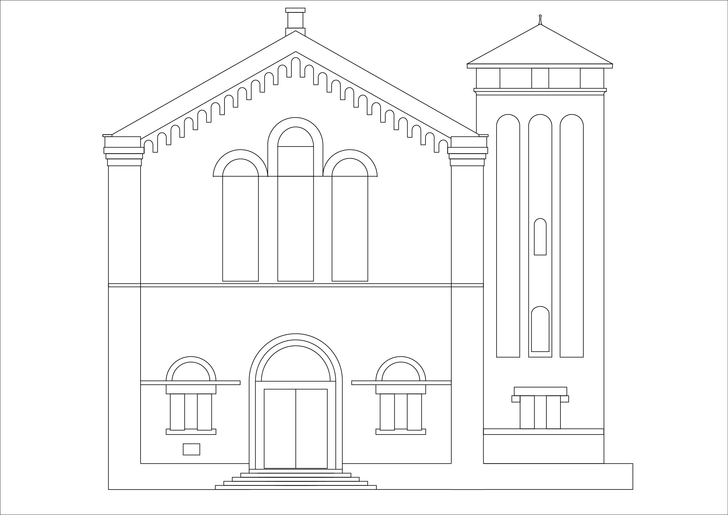 Front Elevation Pdf : Index of building modeling cad church